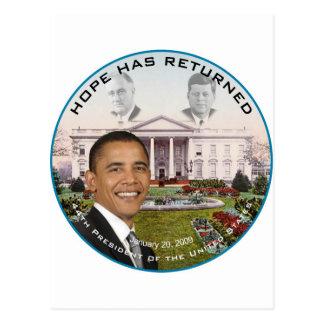 オバマFDR JFKの希望は2009年を1月20日戻しました ポストカード
