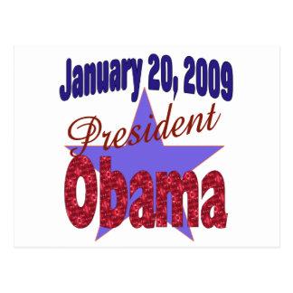 オバマInauguration大統領 ポストカード