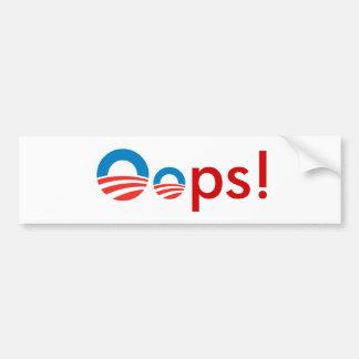 オバマOops! バンパーステッカー