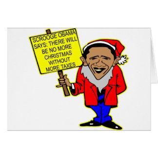 オバマScroogeクリスマス無しより多くの税 グリーティングカード