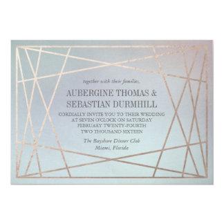 オパールのような結婚式招待状のパステル調のシャンペンの金ゴールド カード