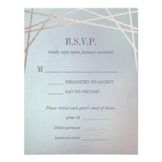 オパールのような結婚式招待状の応答RSVPカード カード