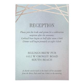 オパールのような結婚式招待状の披露宴余分情報 カード