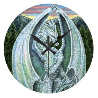 オパールのドラゴンの柱時計 ラージ壁時計