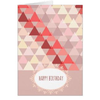 オパールの幾何学的な誕生日 カード
