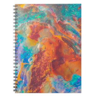 オパールの瑪瑙の大理石の平板 ノートブック