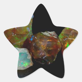 オパール 星シール