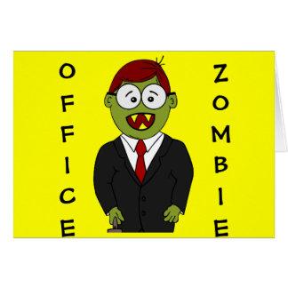 オフィスのあるゾンビからのハッピーハローウィン カード