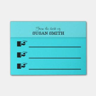 オフィスのオルガナイザーの後it®ノートは小さい個人化します ポストイット