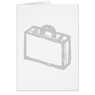 オフィスのブリーフケースか旅行者のスーツケース。 スケッチ カード