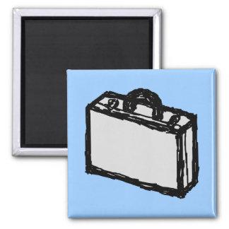 オフィスのブリーフケースか旅行者のスーツケース。 スケッチ マグネット