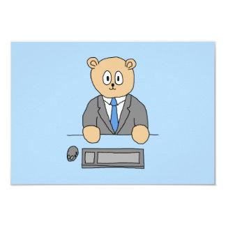オフィスの仕事。 青いタイ 8.9 X 12.7 インビテーションカード