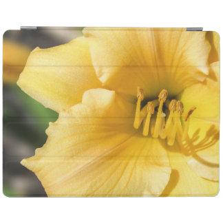 オフセットの黄色いユリのiPadの頭が切れるなカバー iPadスマートカバー