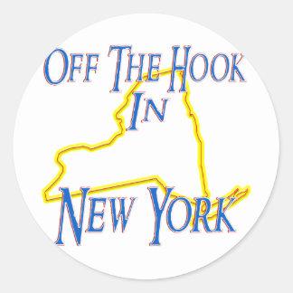 オフフックの状態のニューヨーク- ラウンドシール