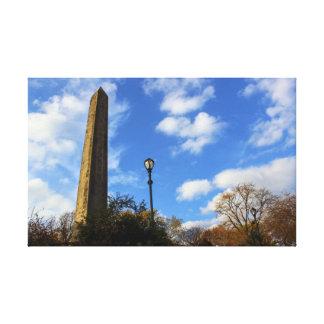 オベリスク、セントラル・パーク、NYCのCleopatraの針 キャンバスプリント