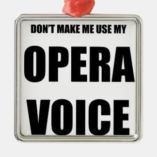 オペラ声 メタルオーナメント