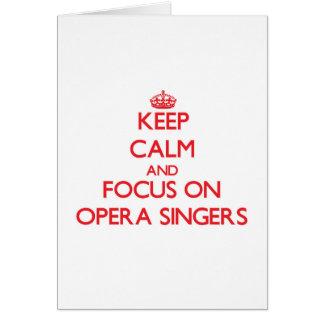 オペラ歌手の平静そして焦点を保って下さい カード