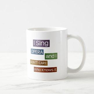 オペラ歌手 コーヒーマグカップ