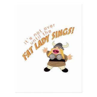 オペラ歌手 ポストカード