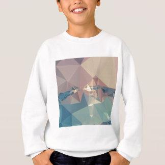 オペラ藤色の抽象芸術の低い多角形の背景 スウェットシャツ