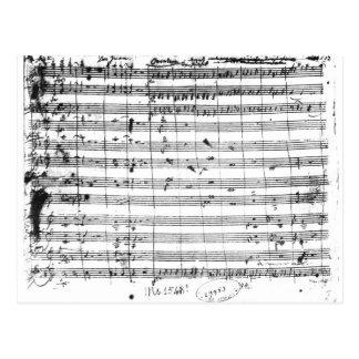 オペラ「Don GiovanniのMs.1548 Ouverture ポストカード