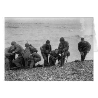 オマハのビーチの第二次世界大戦で上陸する連合軍 カード