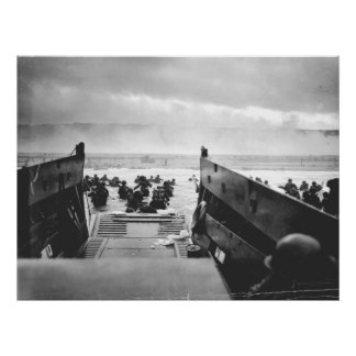 オマハのビーチ、ノルマンディーの攻撃開始日1944年 ポスター