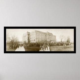 オマハの高等学校の写真1914年 ポスター