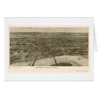 オマハのNEのパノラマ式の地図- 1906年 カード