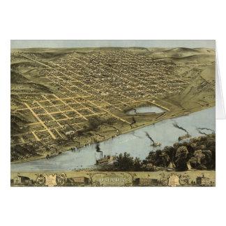 オマハネブラスカ(1868年)の鳥瞰的な眺めの地図 カード