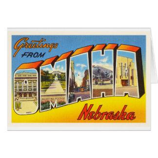 オマハネブラスカNEの古いヴィンテージ旅行記念品 カード