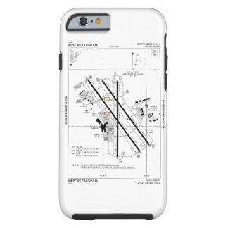 オマハ空港図表 iPhone 6 タフケース