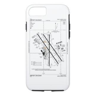 オマハ空港図表 iPhone 8/7ケース