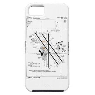 オマハ空港図表 iPhone SE/5/5s ケース