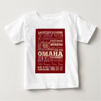 オマハ、ネブラスカの魅力及び有名な場所 ベビーTシャツ