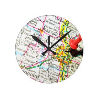 オマハ、ネブラスカ ラウンド壁時計
