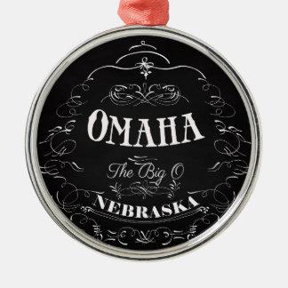 オマハ、大きいの-ネブラスカ メタルオーナメント