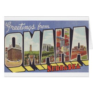 オマハNEの大きい手紙のヴィンテージのテーマからの挨拶 カード