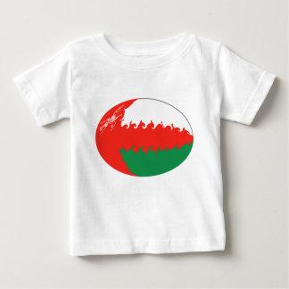 オマーンのすごい旗のTシャツ ベビーTシャツ