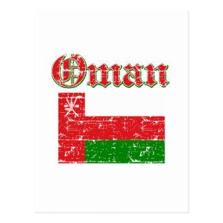 オマーンのグランジな旗 ポストカード