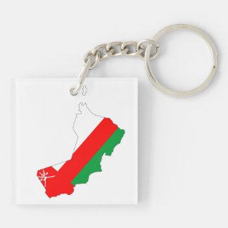 オマーンの国旗の地図の形のシルエットの国家 キーホルダー