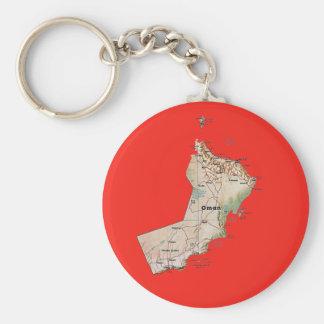 オマーンの地図Keychain キーホルダー