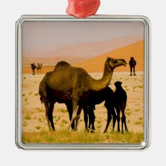 オマーンの摩擦AlのKhaliの砂漠、ラクダ(ヒトコブラクダ)、 メタルオーナメント
