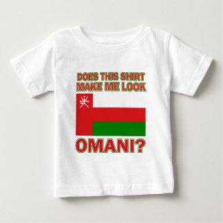 オマーンの旗のデザイン ベビーTシャツ