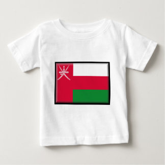 オマーンの旗 ベビーTシャツ