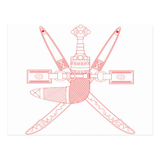 オマーンの紋章 ポストカード