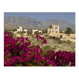 オマーンのHajar西部の山、Al Hamra。 町 ポストカード