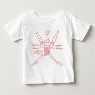 オマーン-オマーンの紋章付き外衣の紋章 ベビーTシャツ