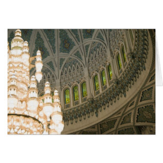 オマーン、マスカットのサルタンのQaboosのモスク カード