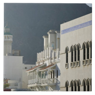 オマーン、マスカット、Mutrah。 Mutrah Cornicheのモスク タイル